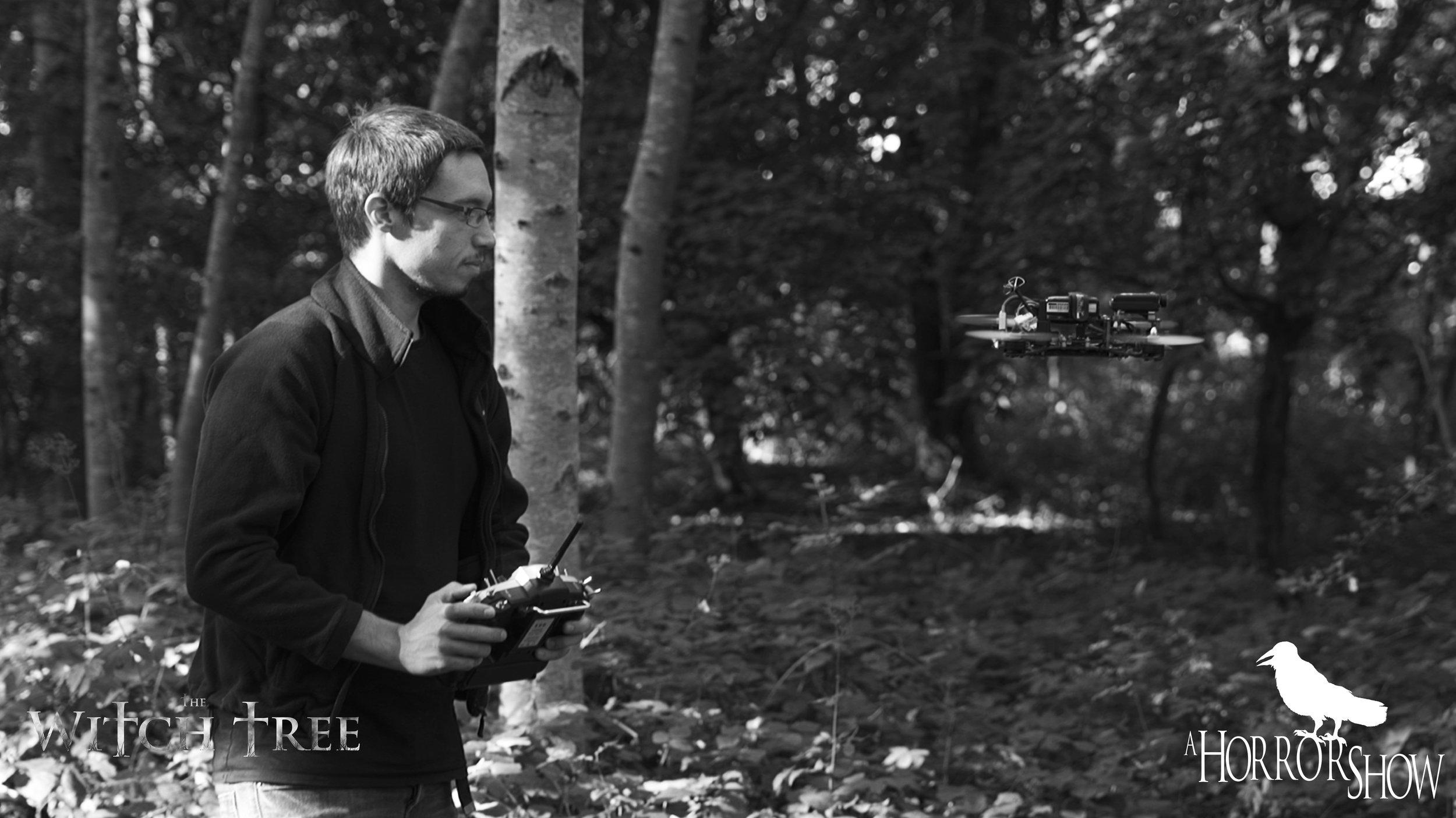 Josh Forward testing his drone.