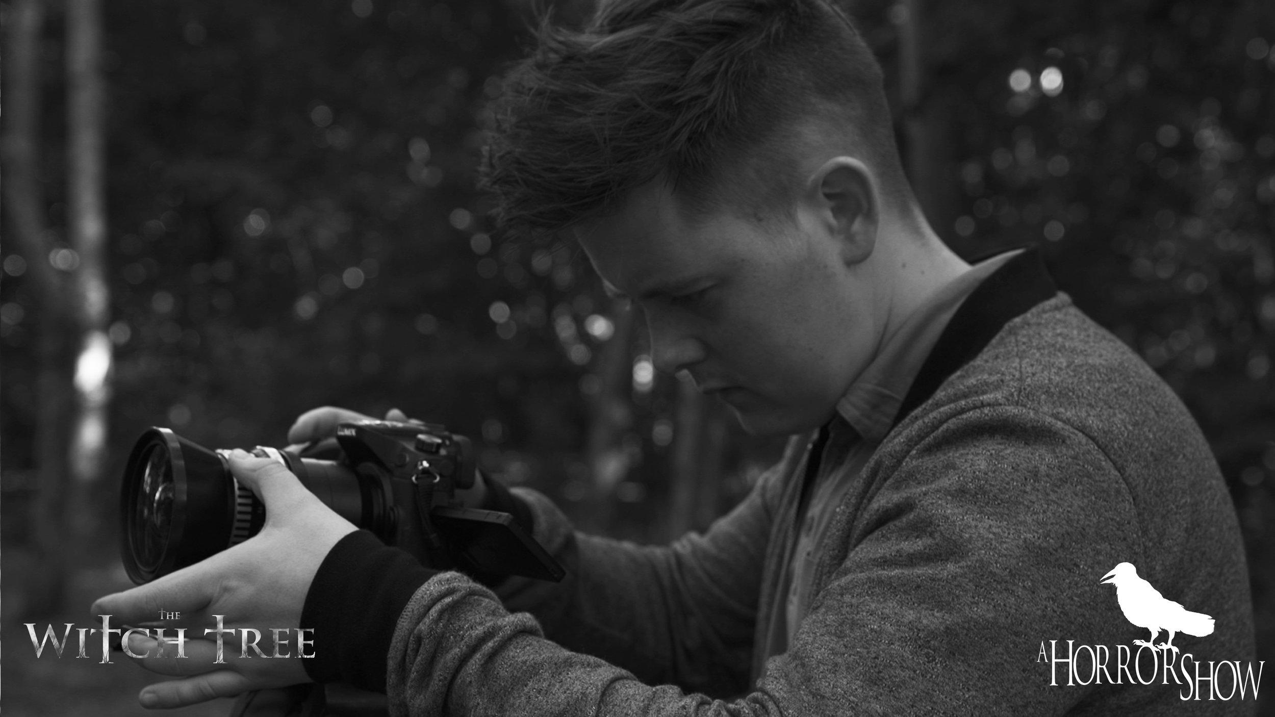 Director Lee Patrick Robinson behind the camera on The Witch Tree.