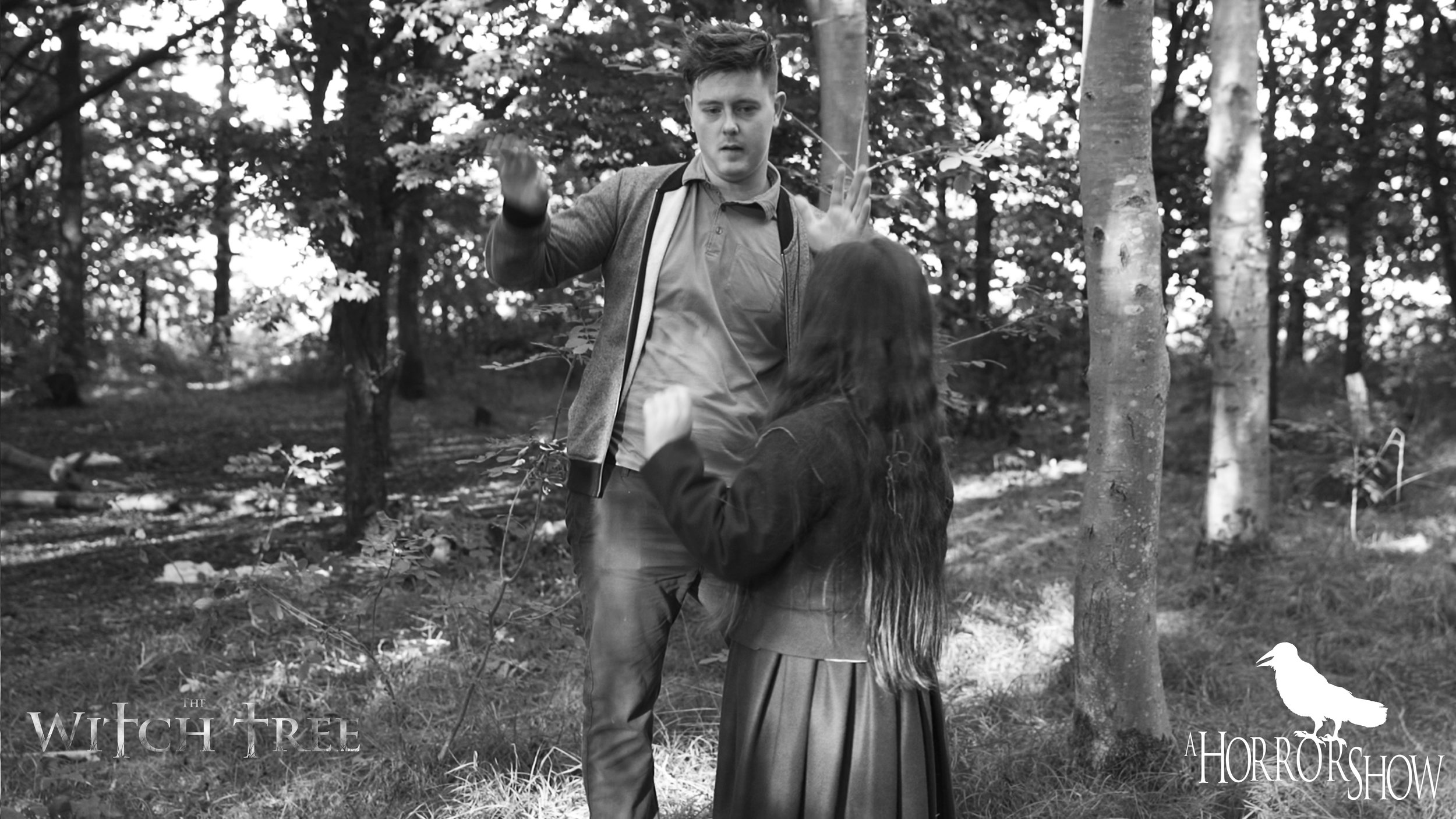 Lee Patrick Robinson directing Scarlet Sargent on The Witch Tree.