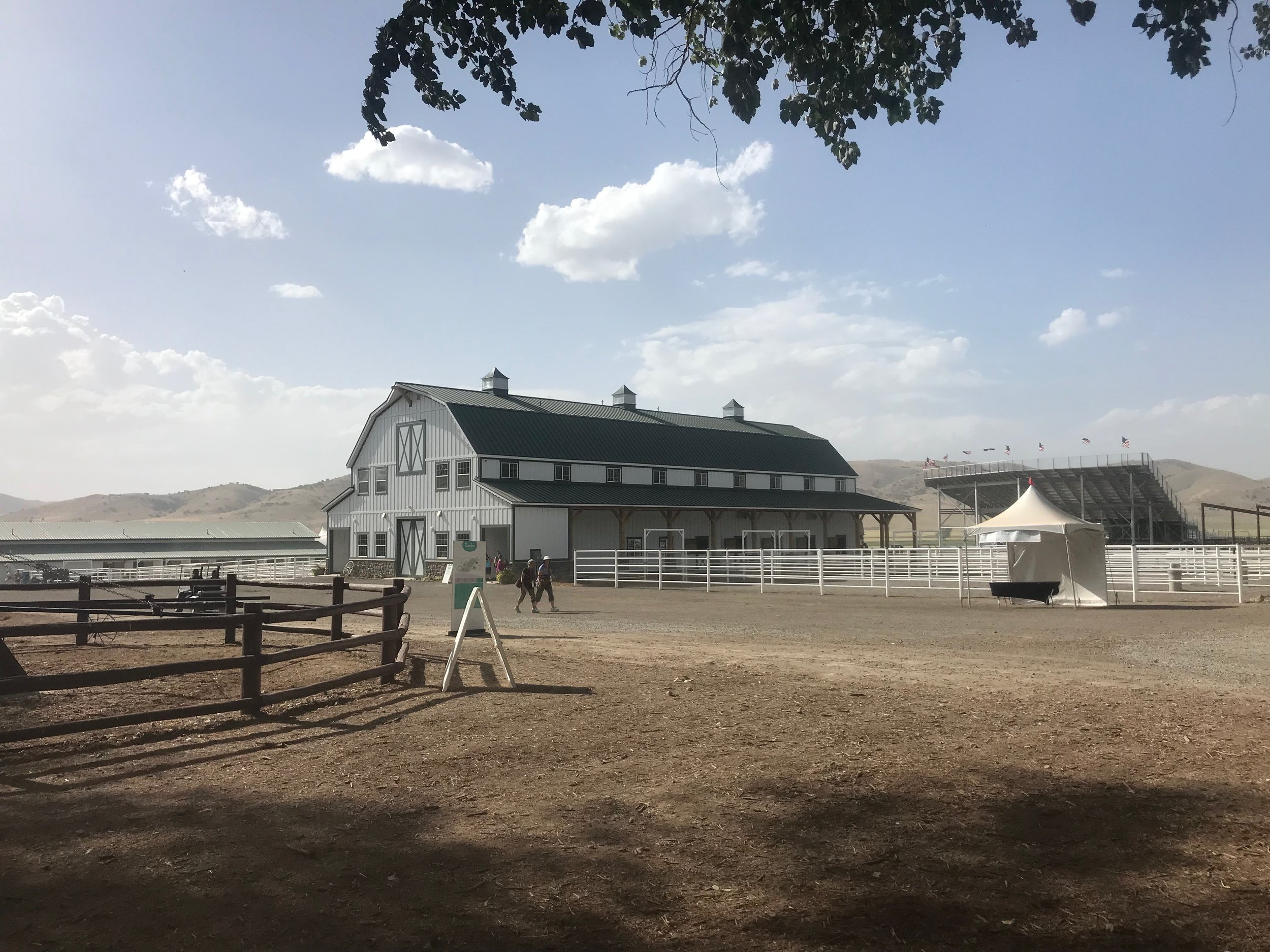 One of the barns at the Young Living Whispering Springs Farm in Mona, Utah.