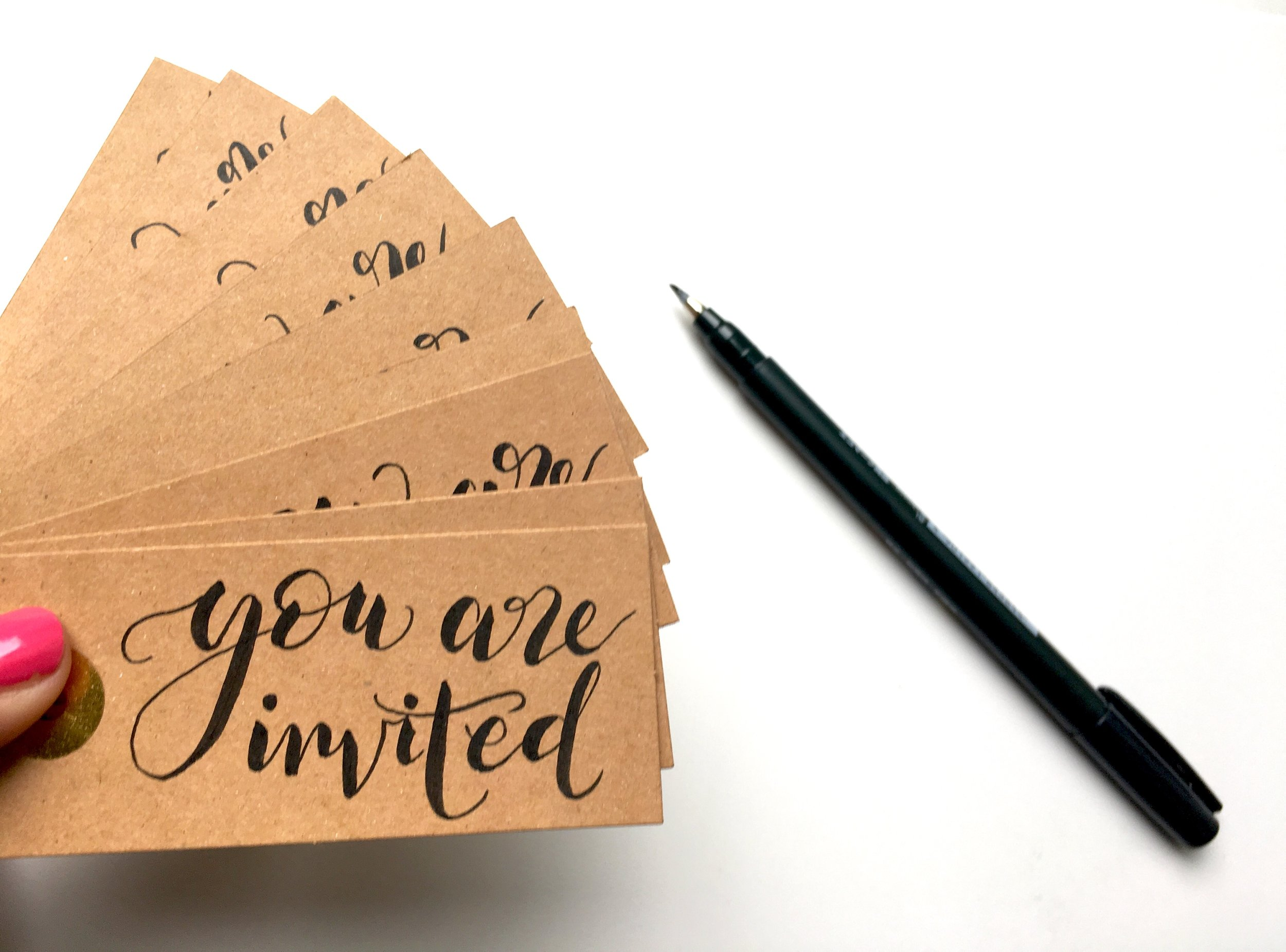 Hand written gift tags