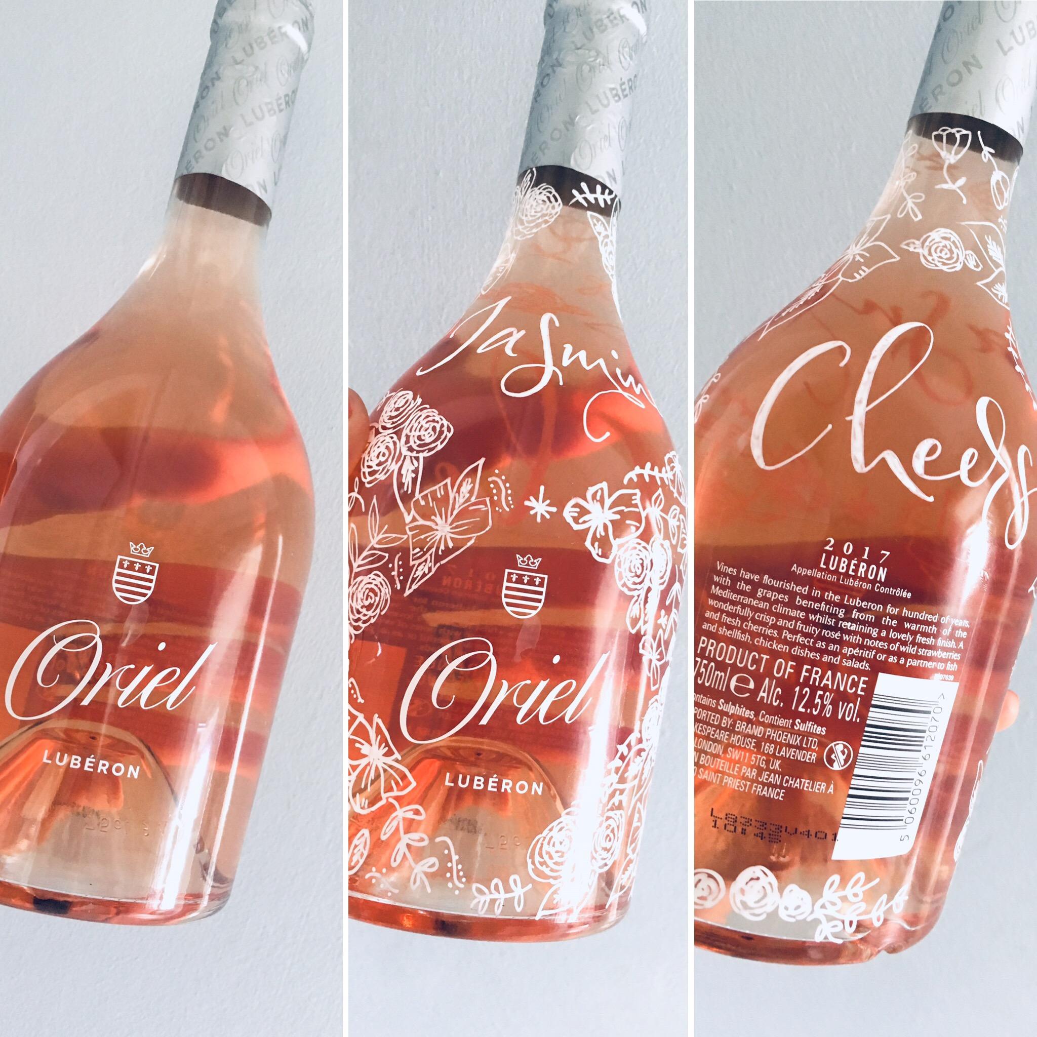 Rose wine bottle lettering.JPG