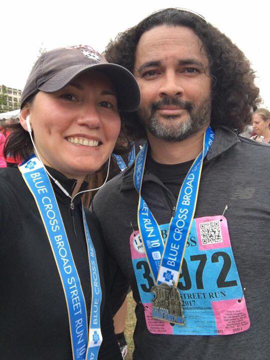 Aliya and I after surviving the Broad Street Run in Philadelphia, PA