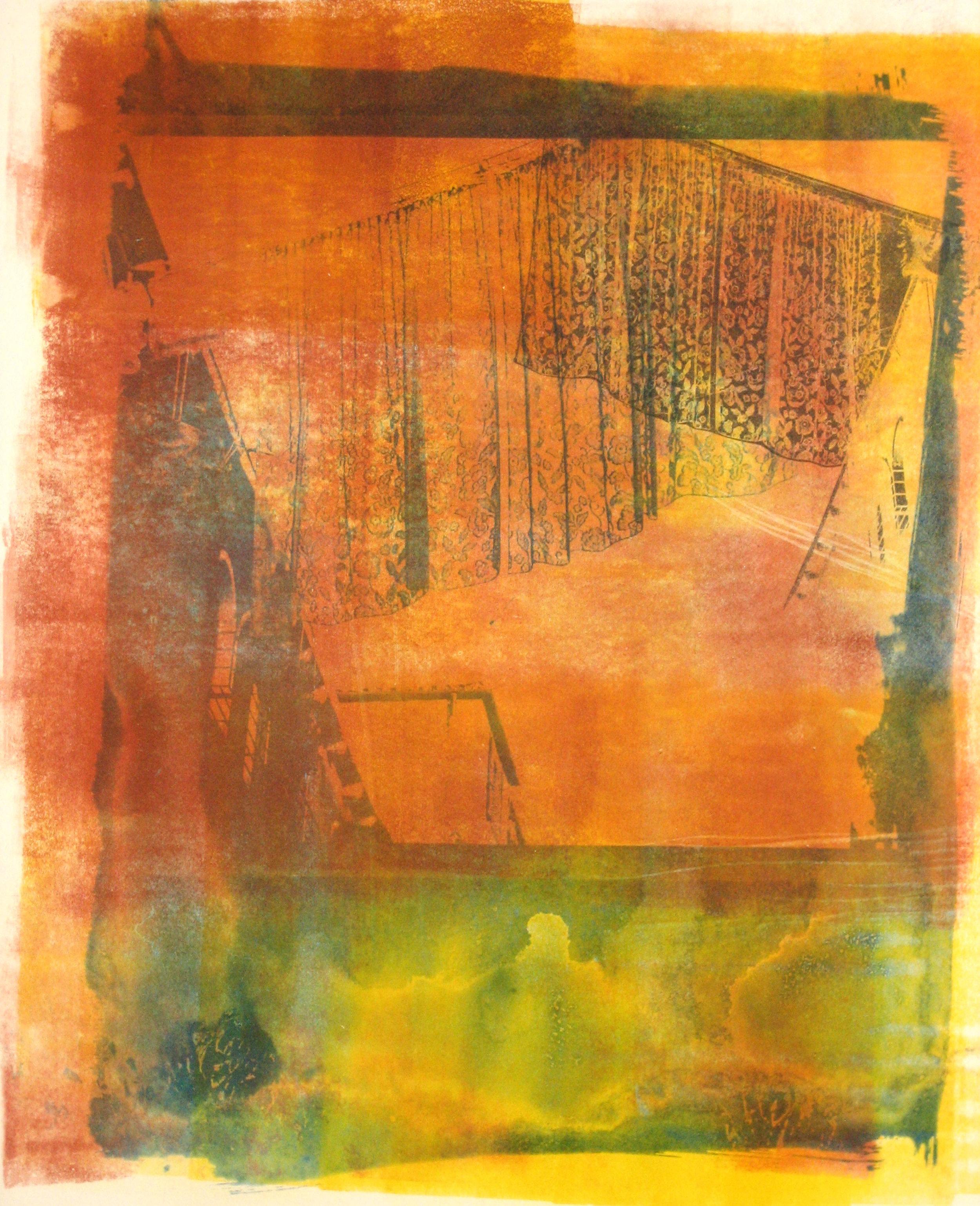 lace sheet , 2008, cyanotype/xerox transfer, 12.5 x 15 inches