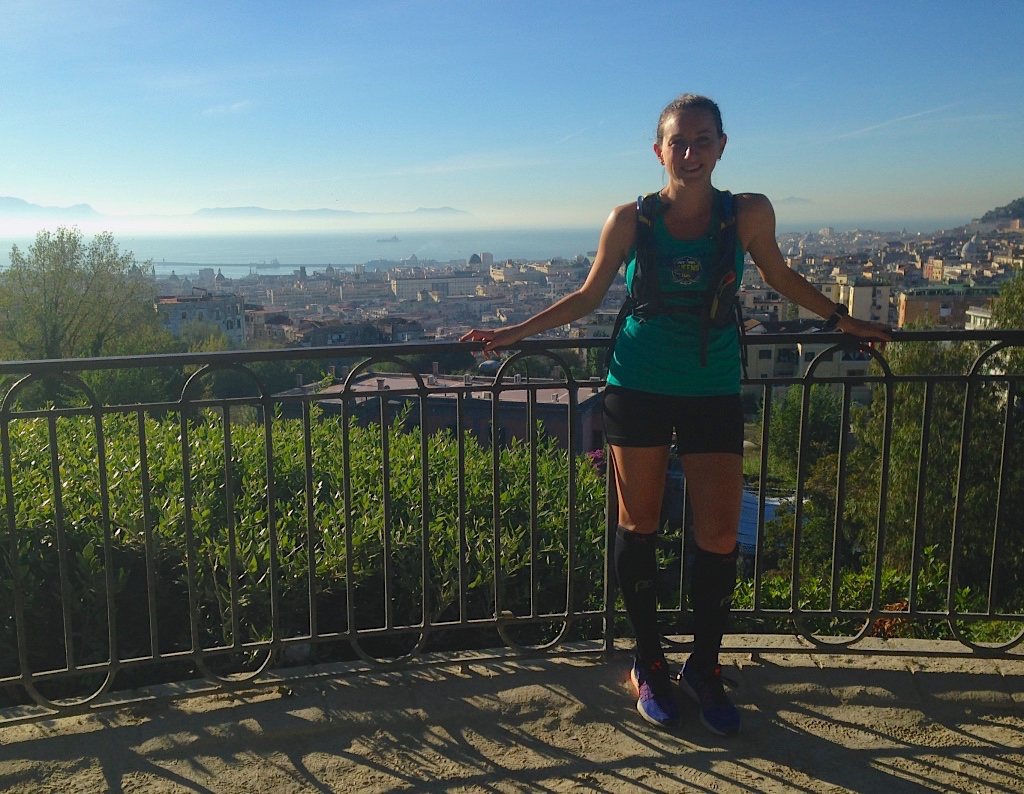 Stopped for a quick photo in Capodimonte Park in Naples, Italy during an 18-miler. Ran back down to the sea and still wasn't done.