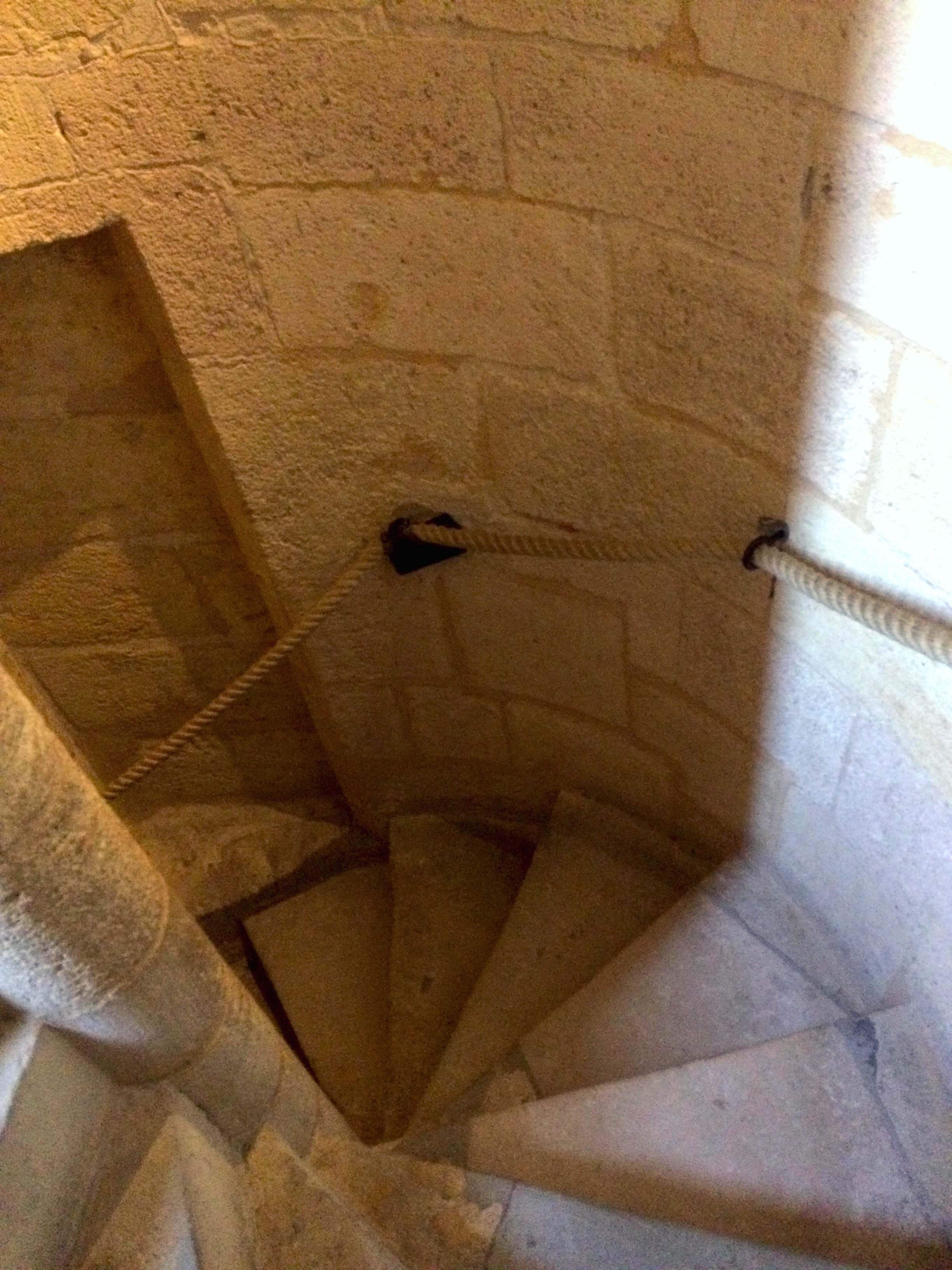 Spiral stairs make me just as dizzy as heights, apparently.