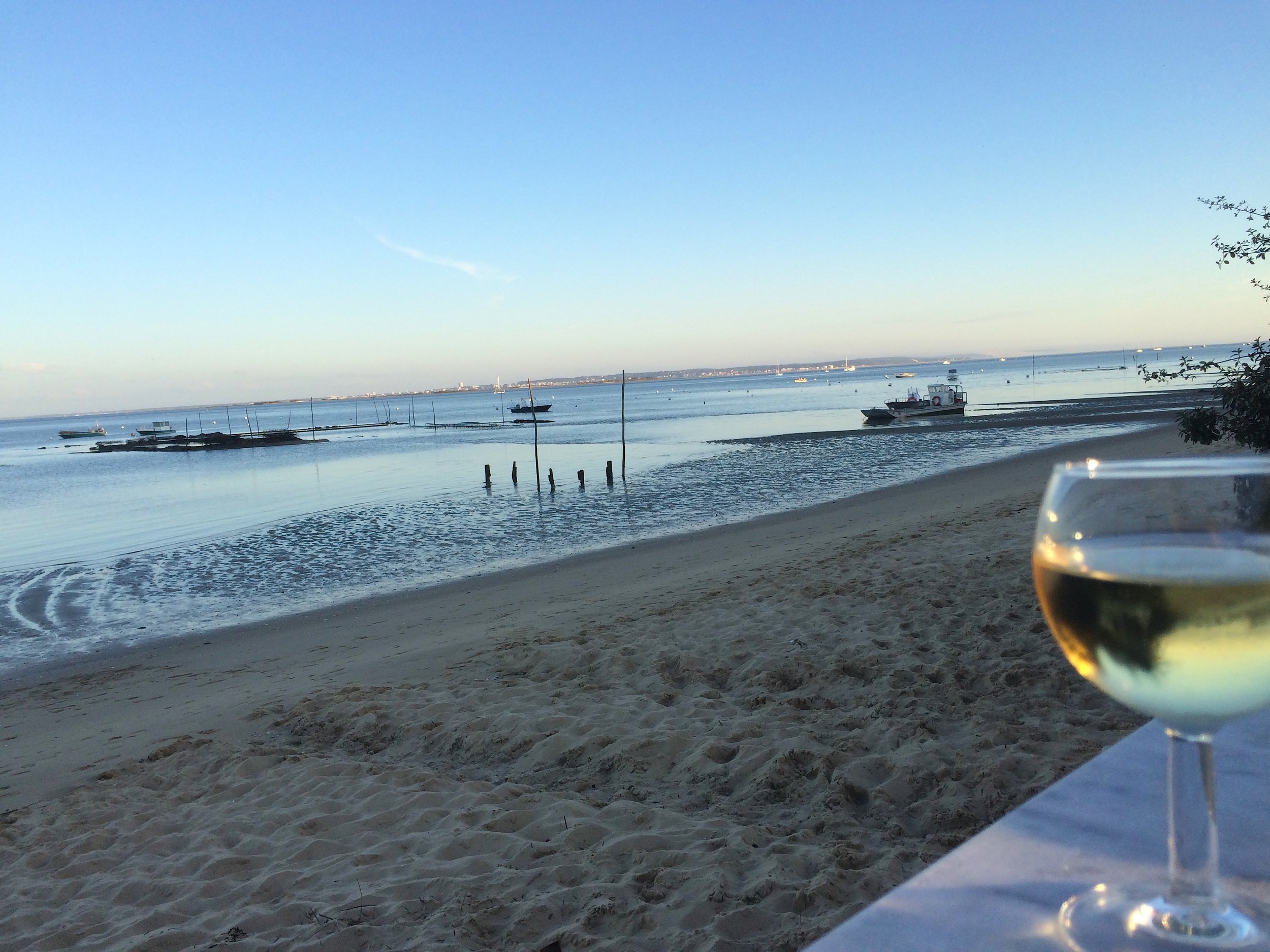 My first course and waterfront view!