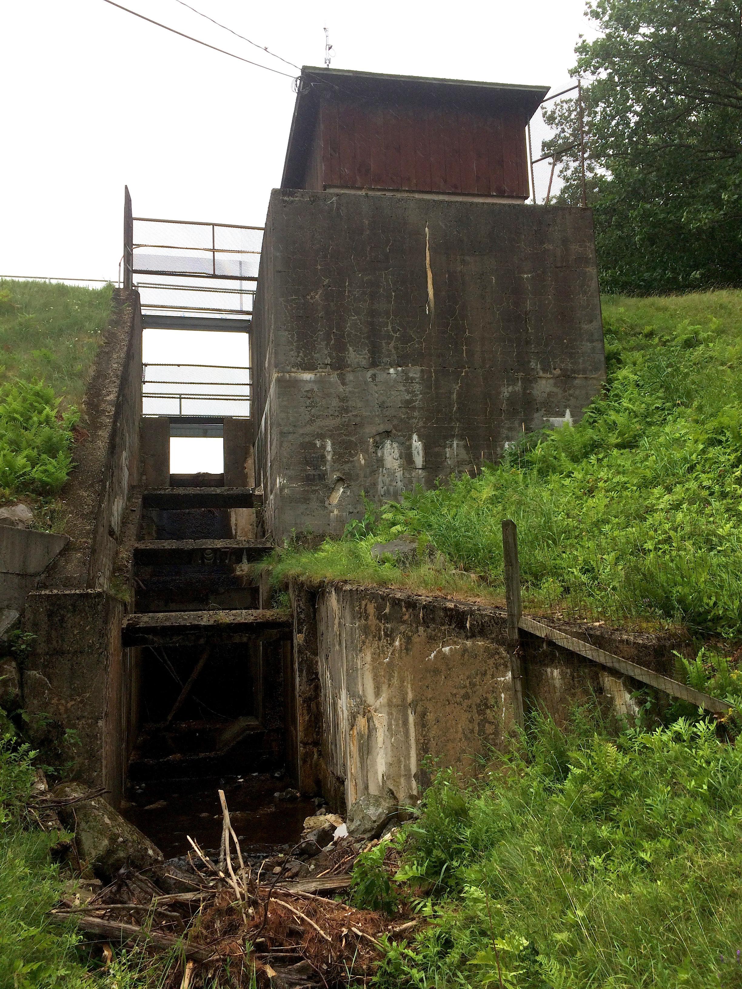 The Silver Lake dam.