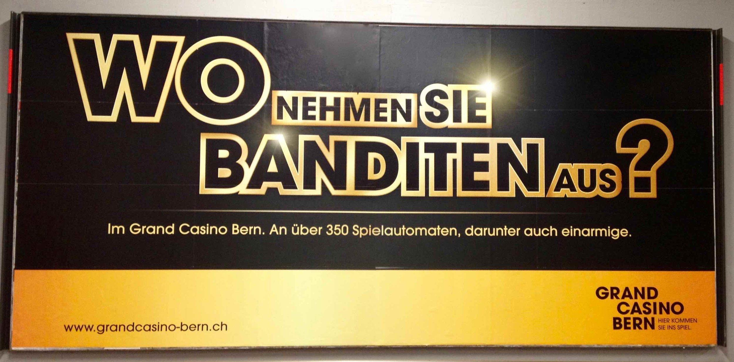 "Grand Casino Bern Imagekampagne 2013: Sujet ""Einarmige Banditen"""