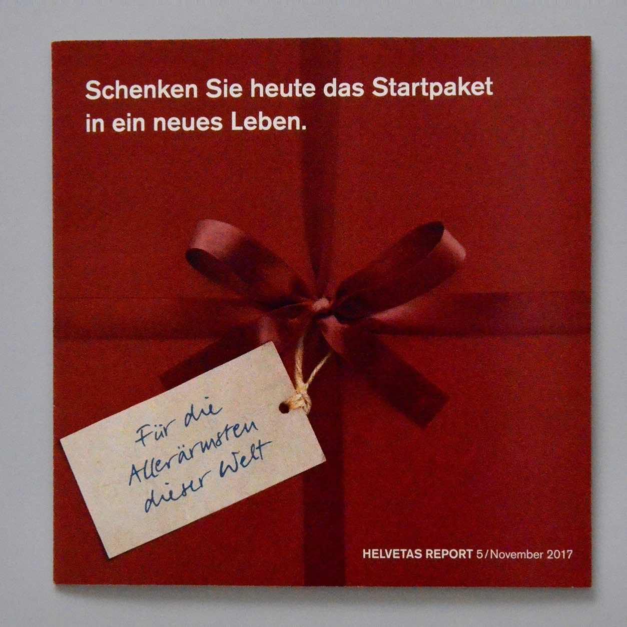 Helvetas Spendermailing November 2016: Beilage in Geschenkform