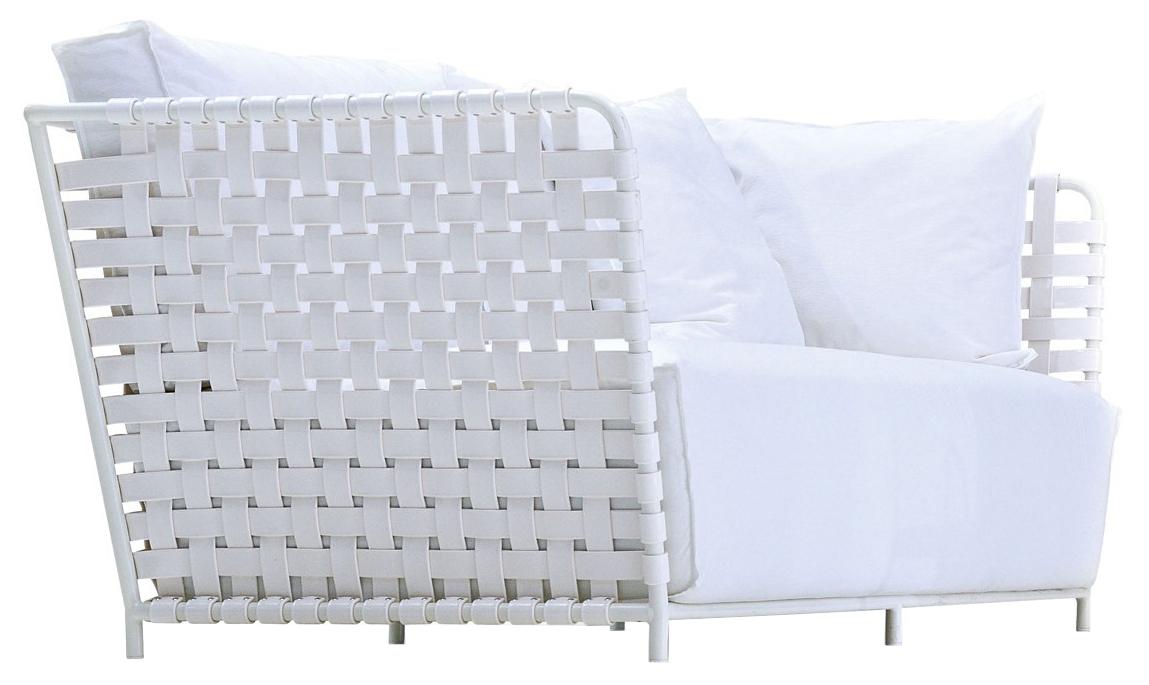 gervasoni inout 801f - Armchair, matt white lacquered aluminium tubular frame,one loose cushion 60x60 cm.