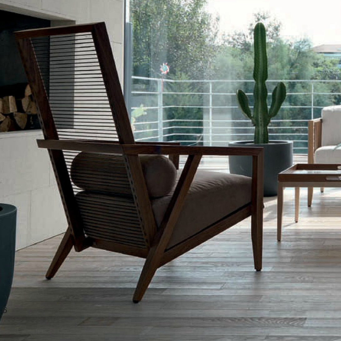 bonacina1889 - HB Armchair: Oak or Walnut frame