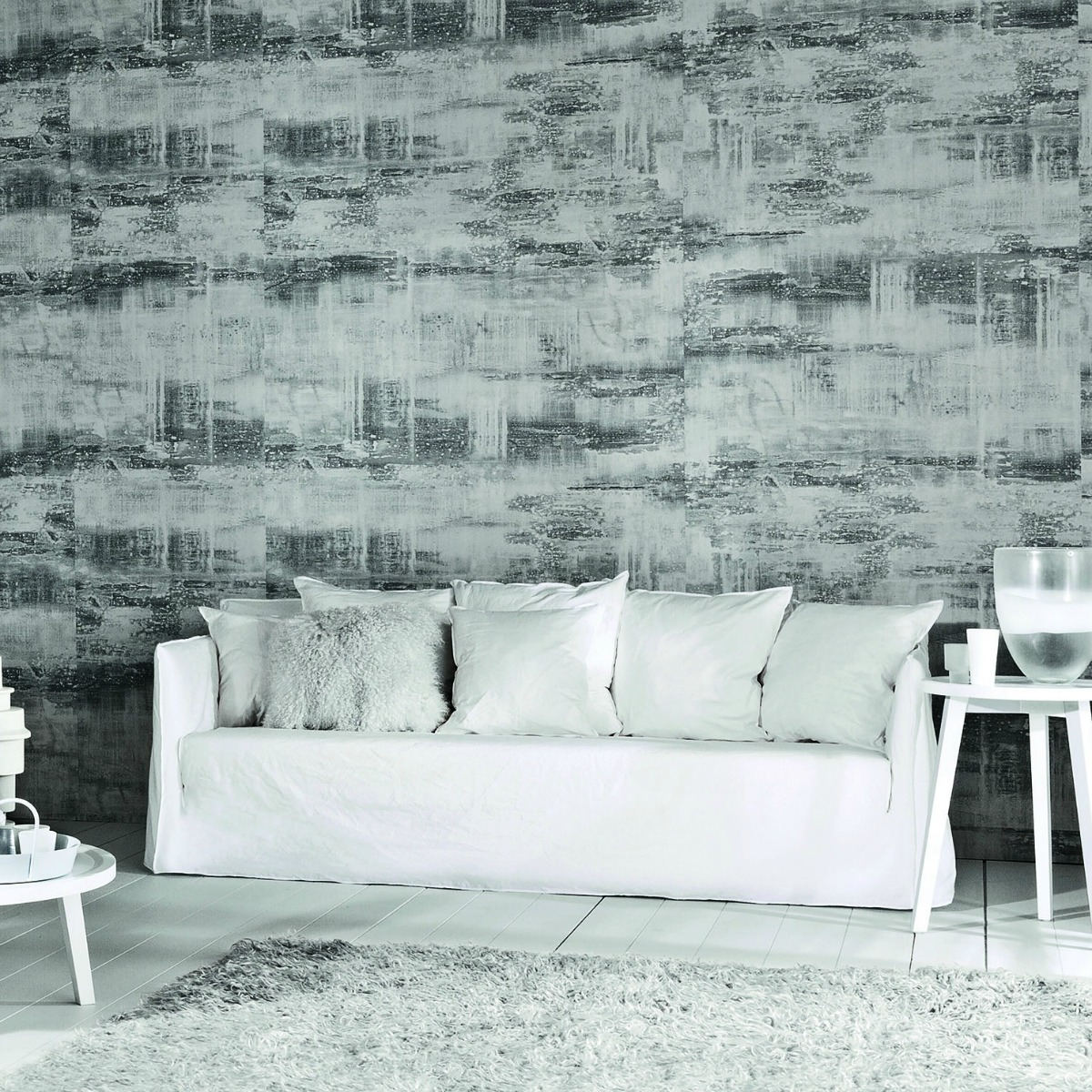 gervasoni ghost 12 - Sofa, Four back cushions in dacron and down 60 x 60 cm and two 50 x 50 cm. with white linen covers.