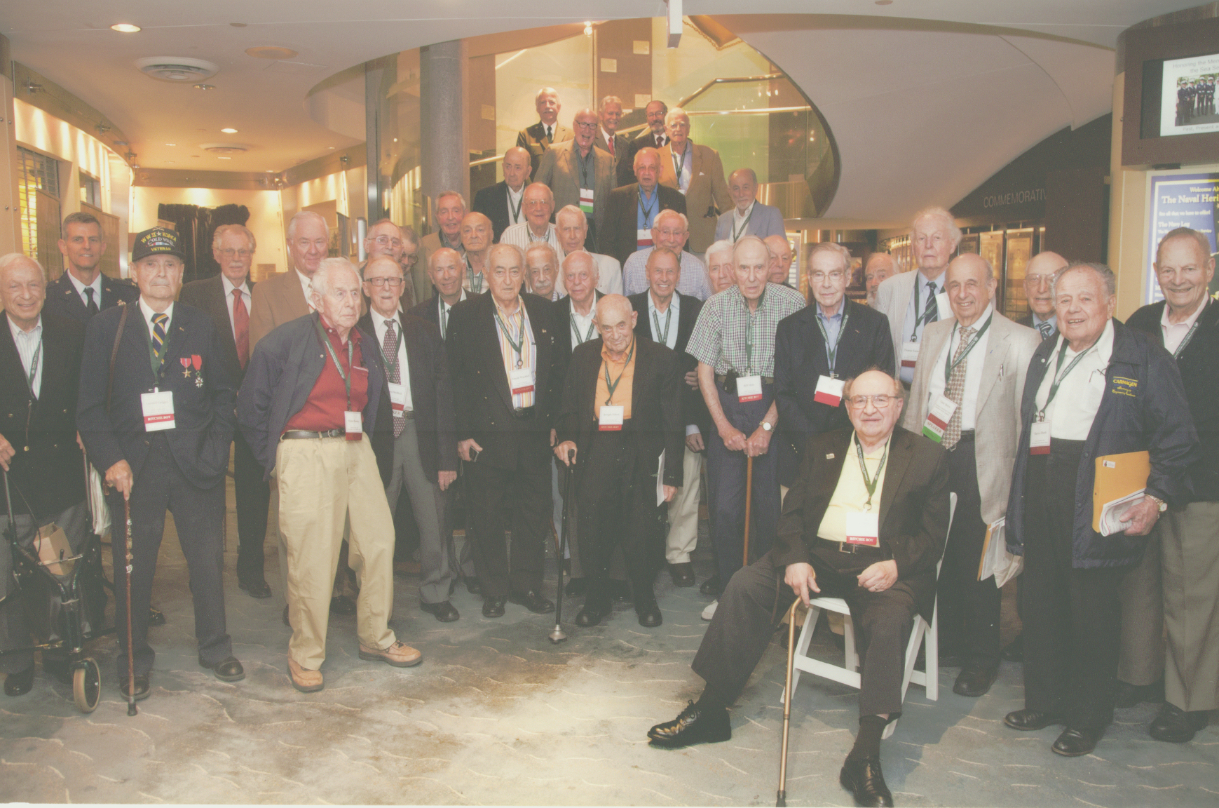 A Photo from a ritchie boy reunion held in washington d.c.   - Wannabe Ritchie Boy Daniel Gross joined the Ritchie Boys for the photo.