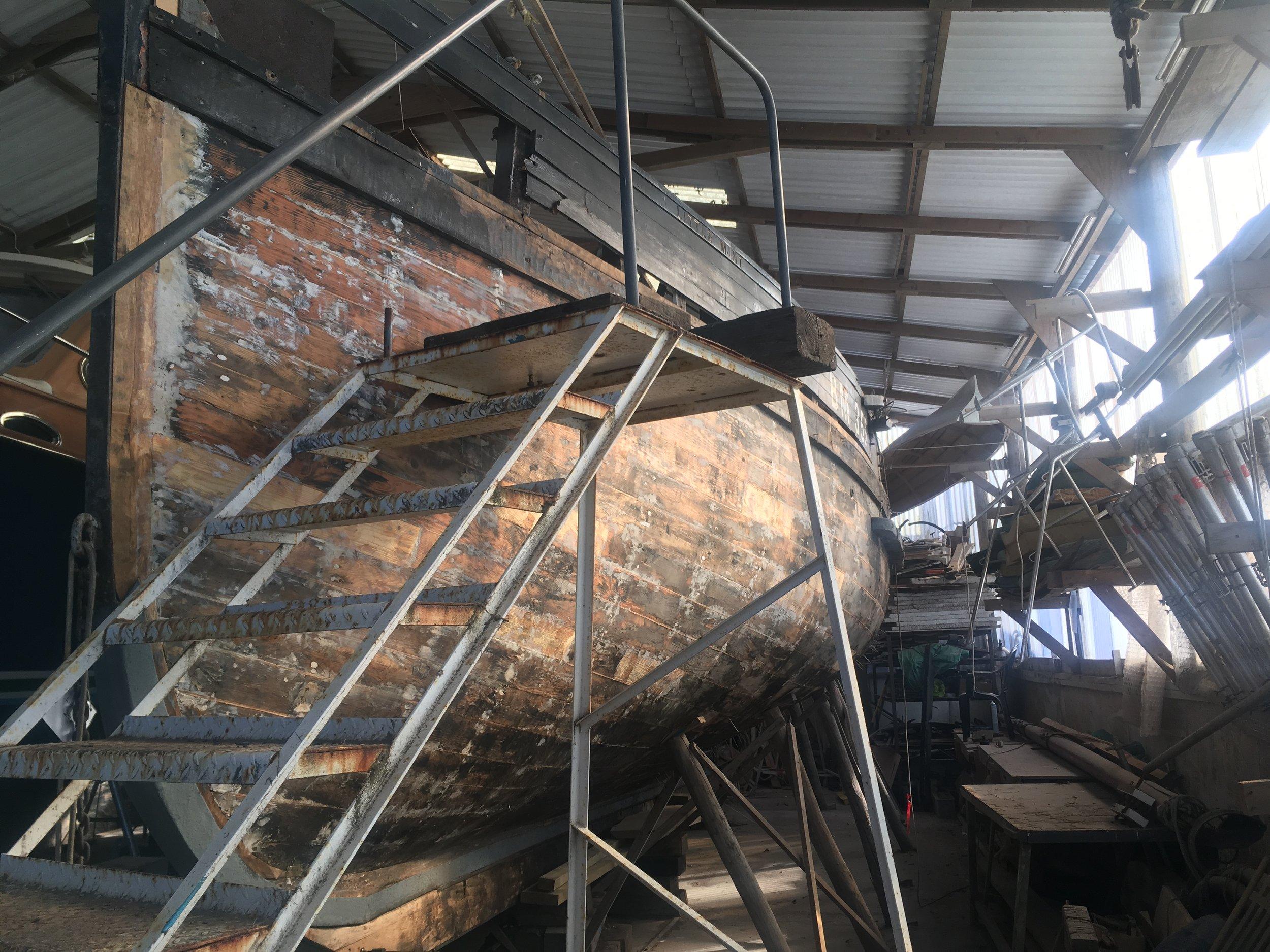 Boatbuilding at Gweek Classic Boatyard