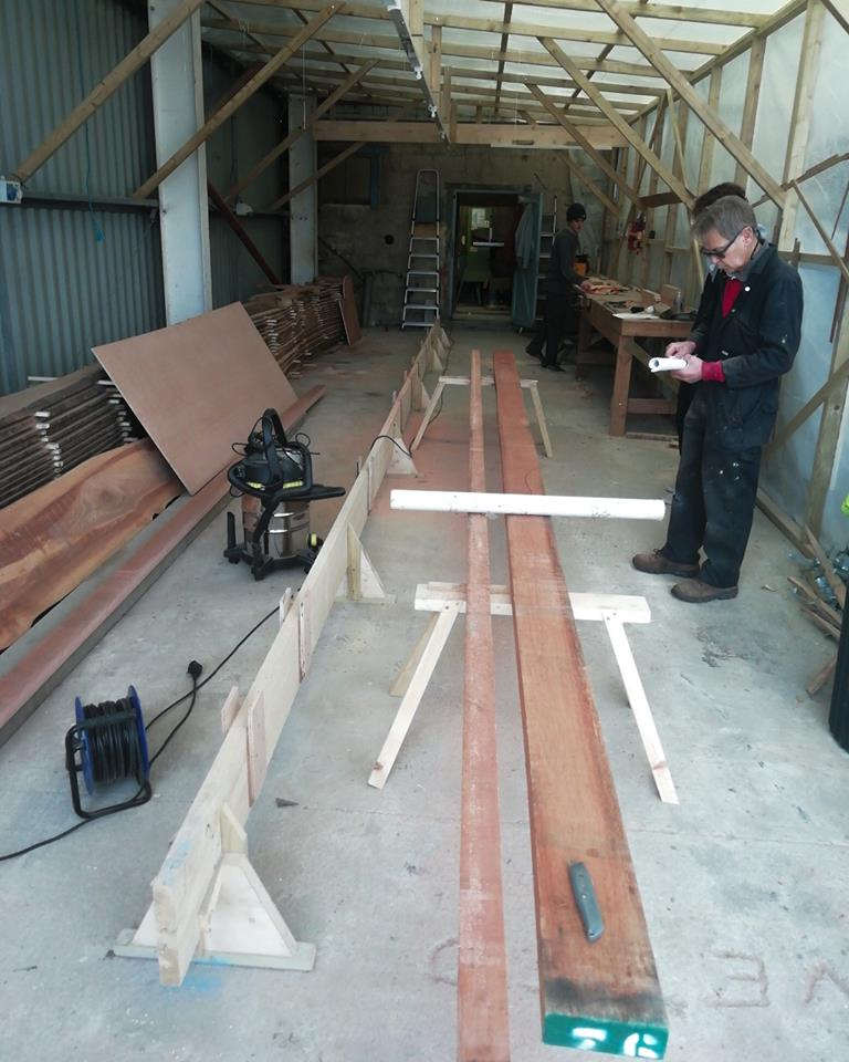 March  11  Gig keel going down today by Peter Martin, Dylan and Patrick..jpg