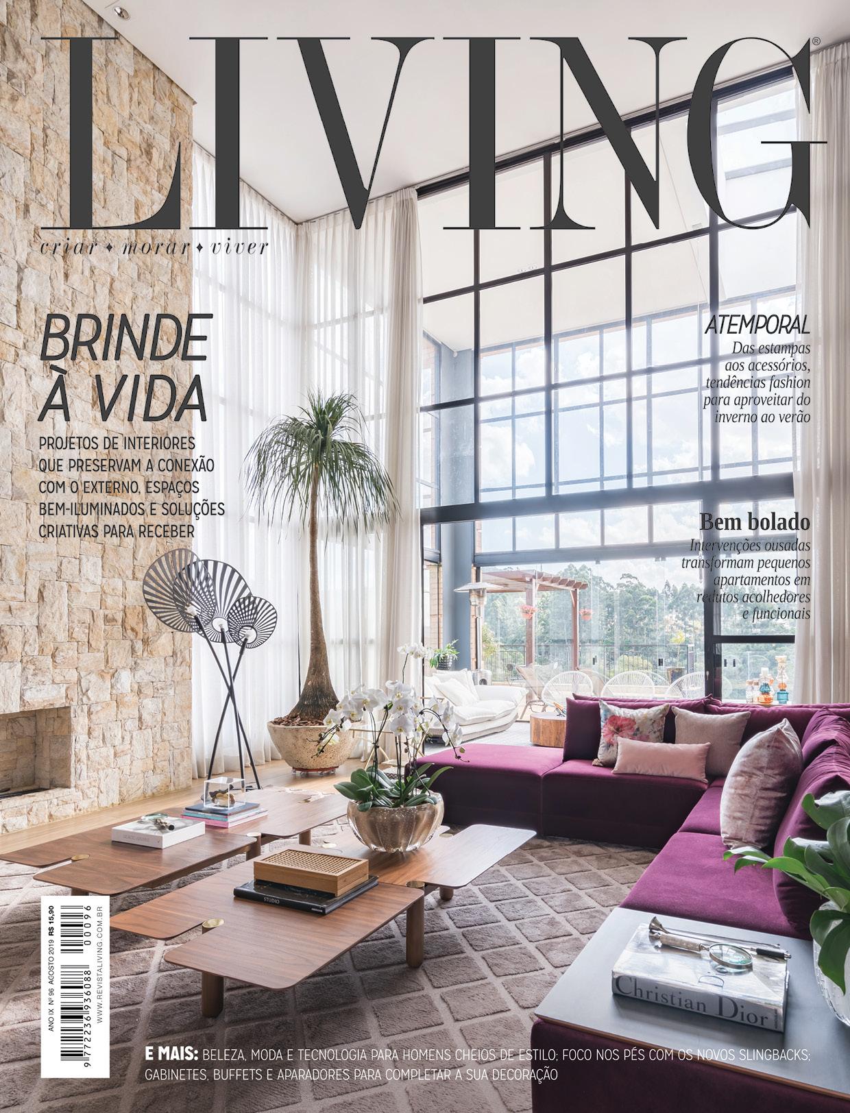 Projeto Cristóvão publicado na revista impressa LIVING - Edição Agosto/19