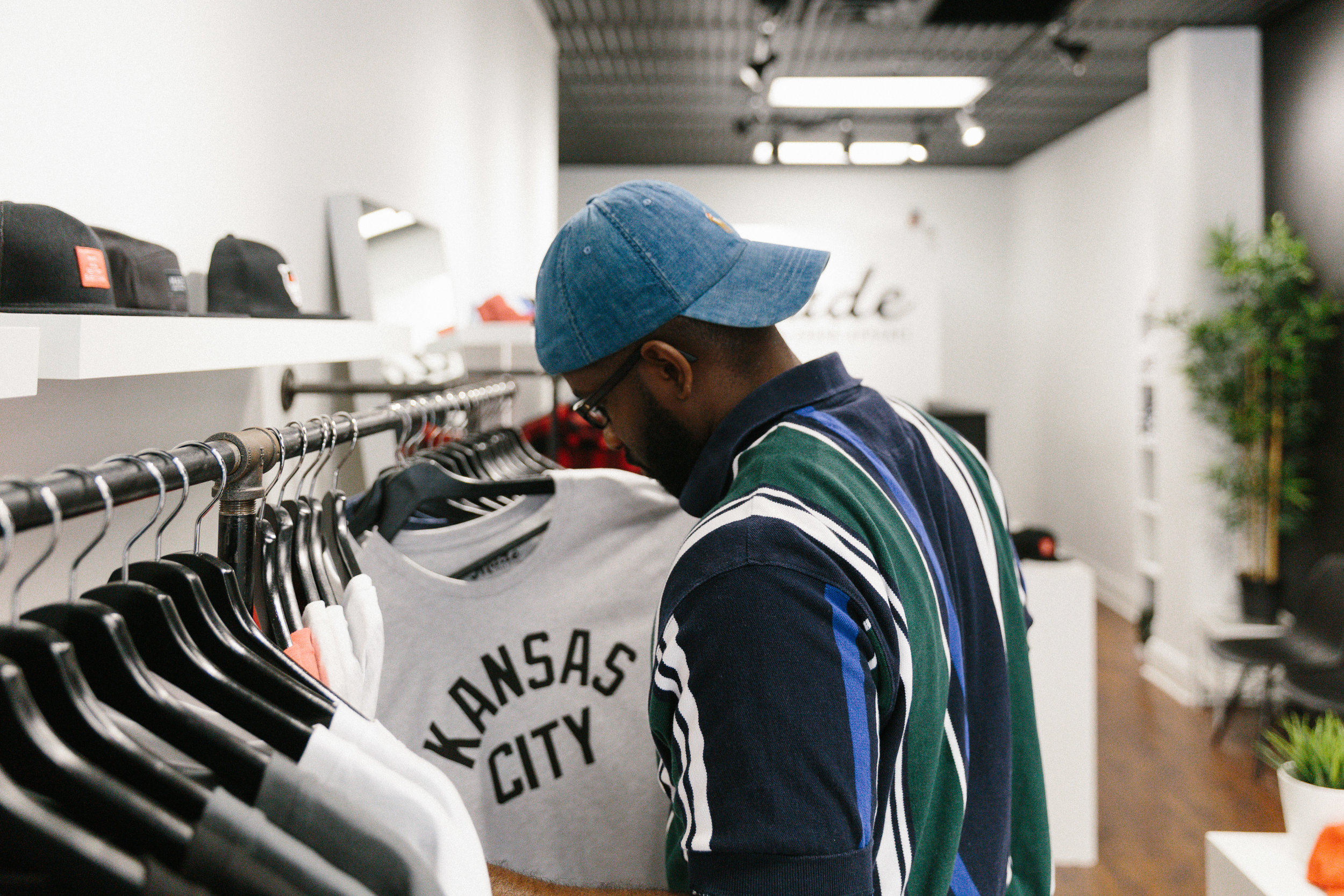 Editor and Chief, Justin at the  MADE MOBB  Flagship Store
