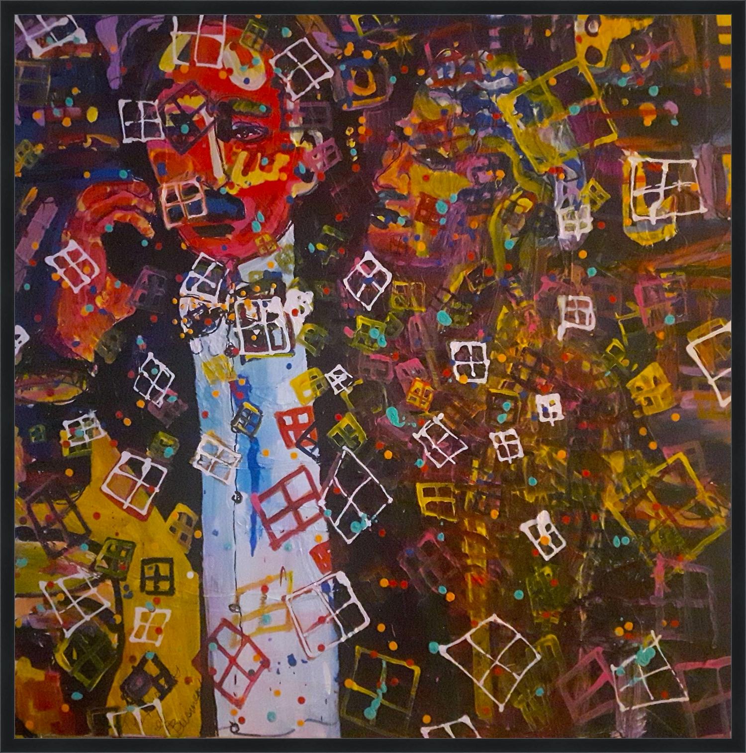 Untitled, 36x36. Acrylic on canvas
