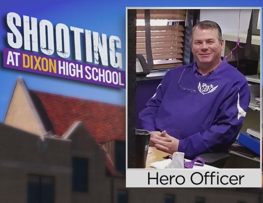 Dixon IL school-based police officer shoots gunman at high school - May 16, 2018A Dixon police resource officer confronted the gunman around 8 a.m. The suspect fired at the officer, who shot back, injuring the gunman, who was captured. The gunman was later found to be a student who had been expelled for drugs. Click here for the full story.