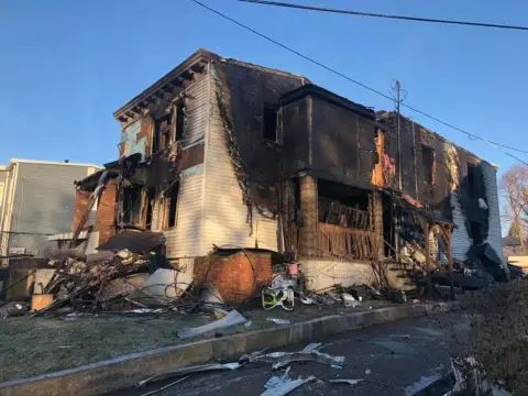 Hero Police Officers Save Residents From Three-Alarm Fire In Newburgh - City of Newburgh police officers braved smoke and flames to save several residents inside a home early Wednesday as flames spread throughout the residence.