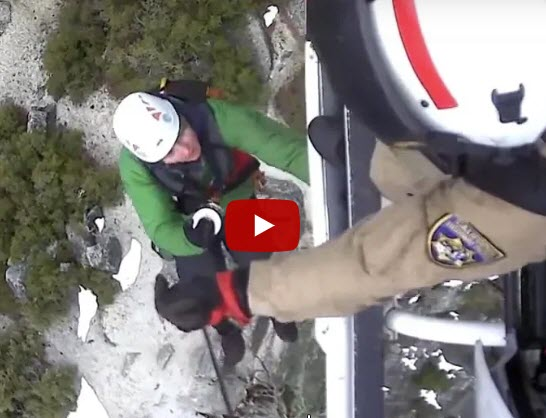California Highway Patrol and Yosemite Search and Rescue unit rescue two hikers stranded near North Dome as snow moves in. - Click here for the video and the complete story.