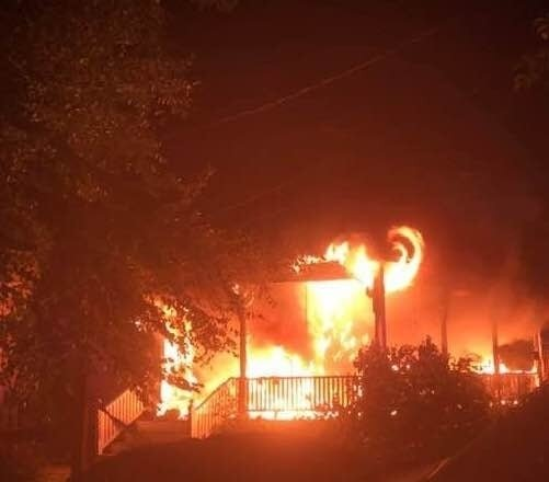 Hero Police Officer Saved Pair As Raging Fire Tore Through Home - A true hero: The officer