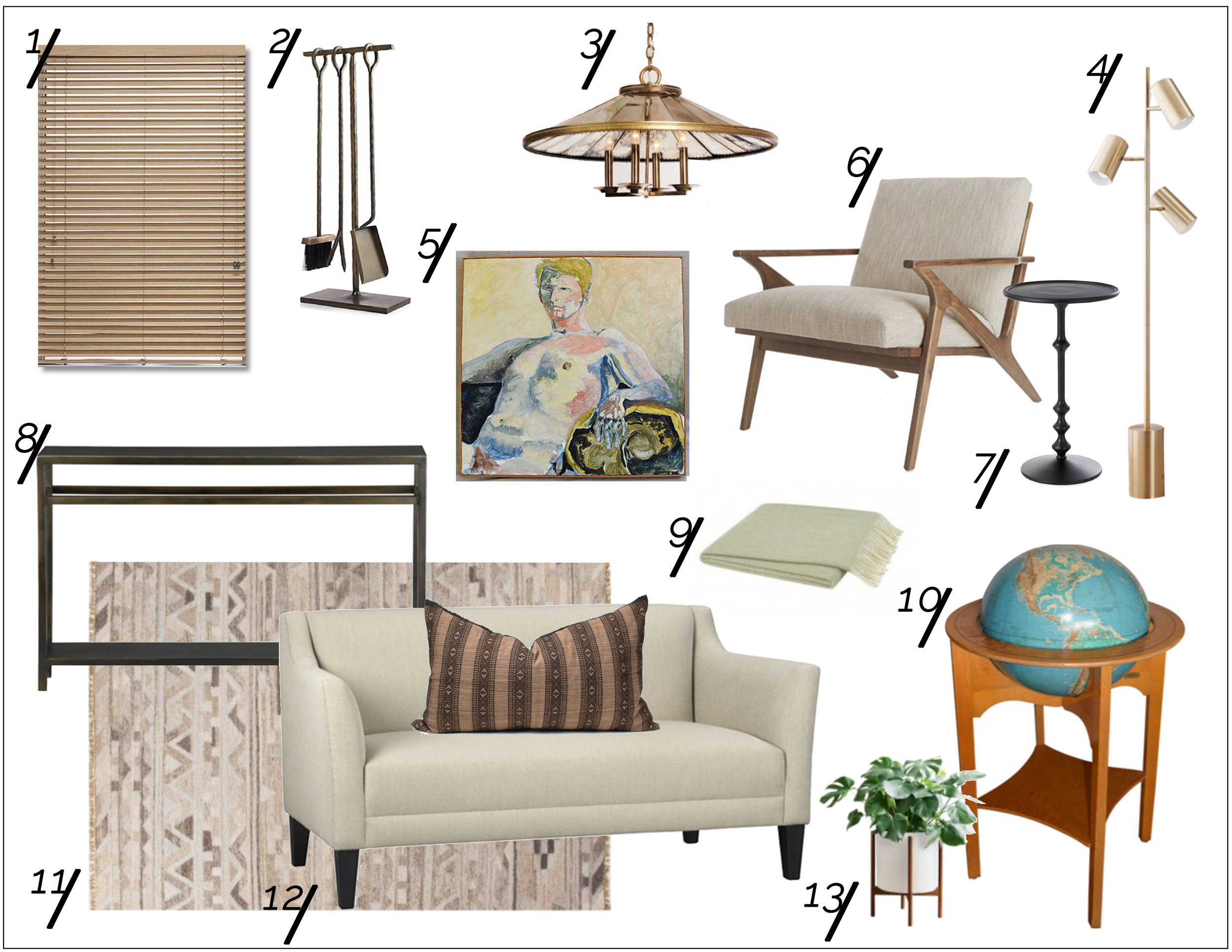 Modernized Mid-Century Living Room Shopping Guide  xo, Ebright Design