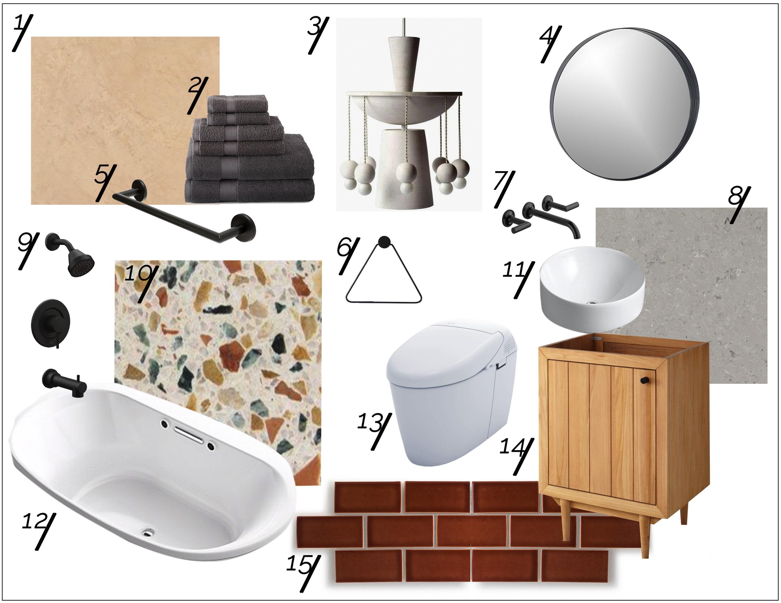 Totally Terrazzo Guest Bath Shopping Guide  xo, Ebright Design