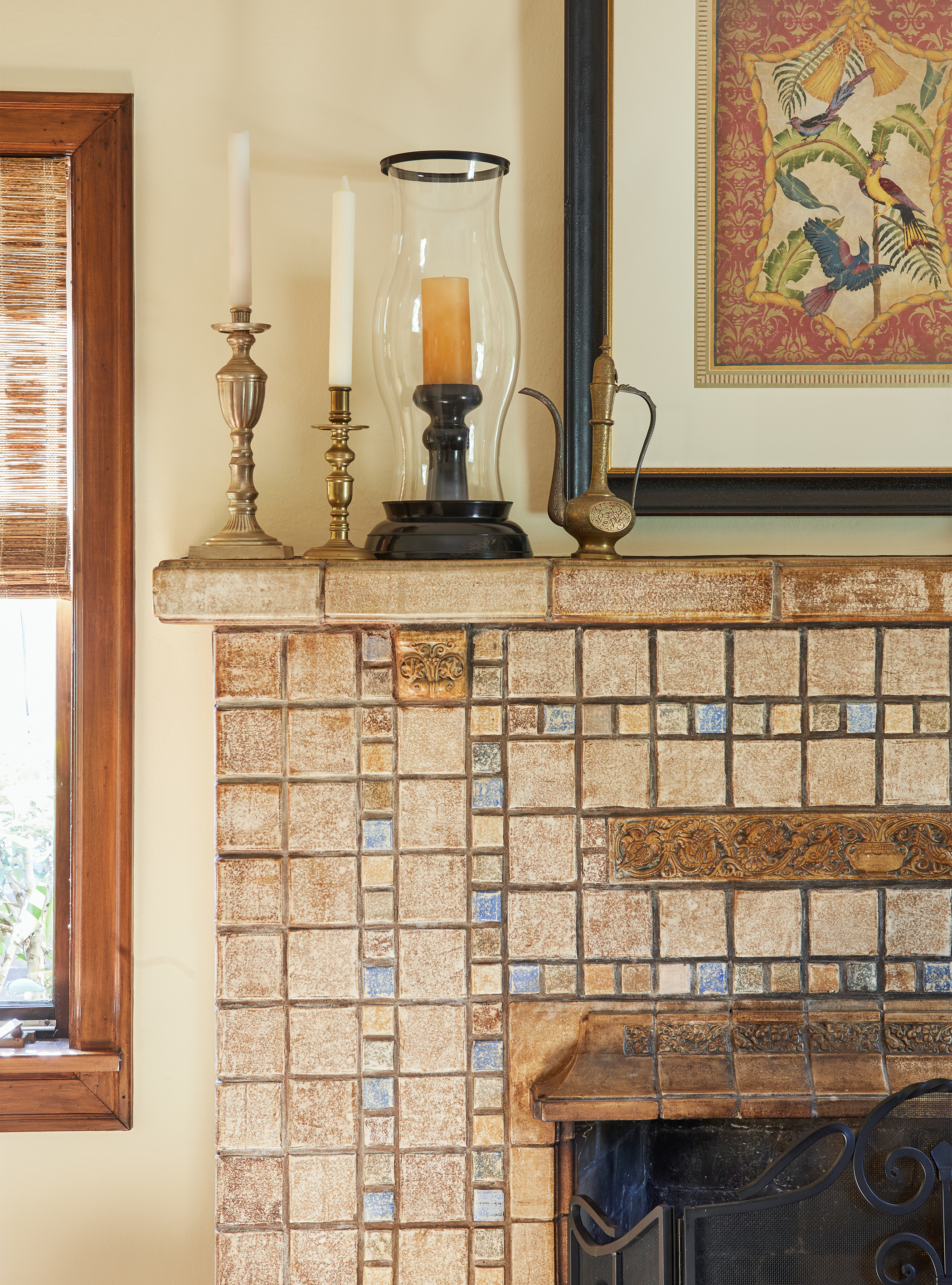 Batchelder fireplace <3  xo, Ebright Design