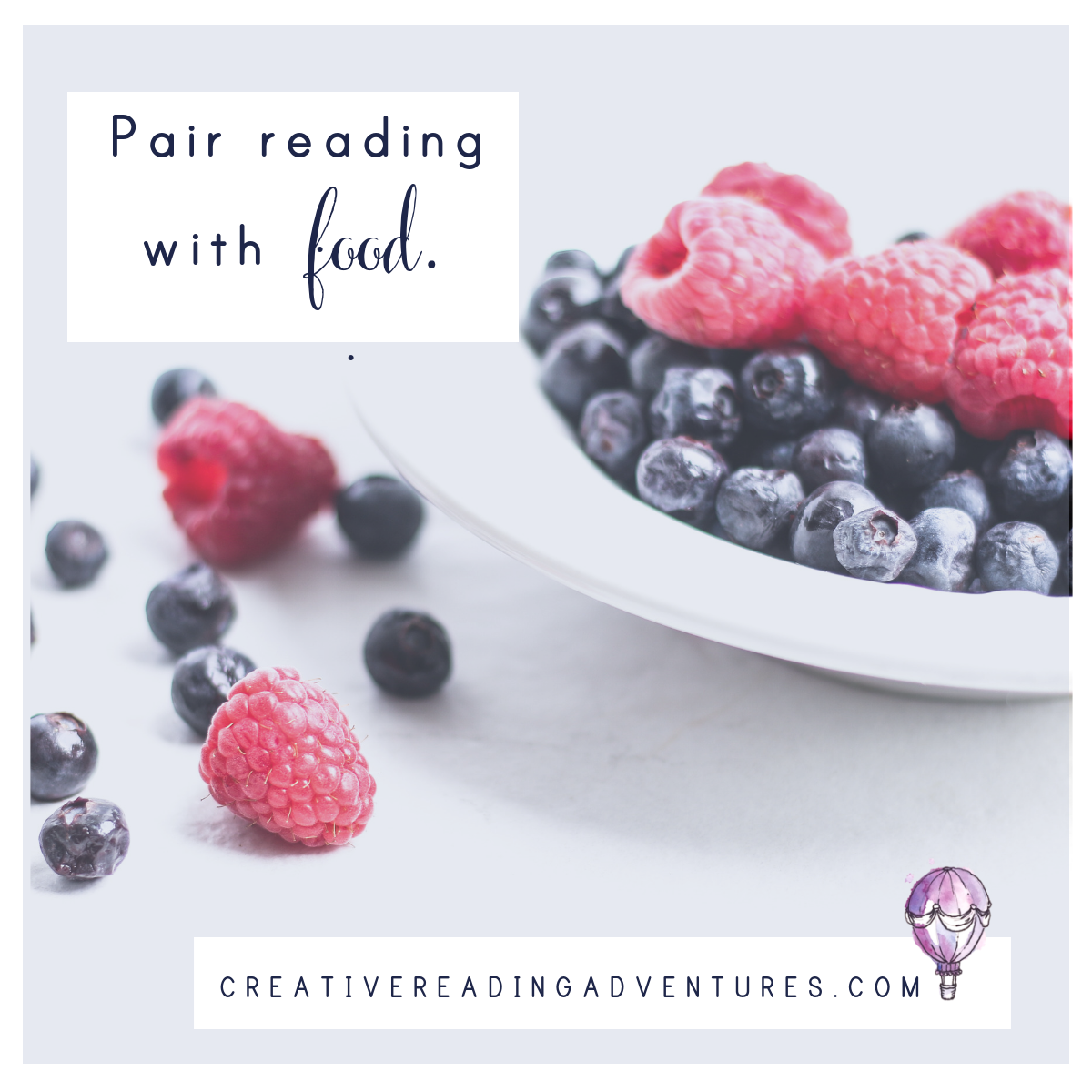 Pair reading with food