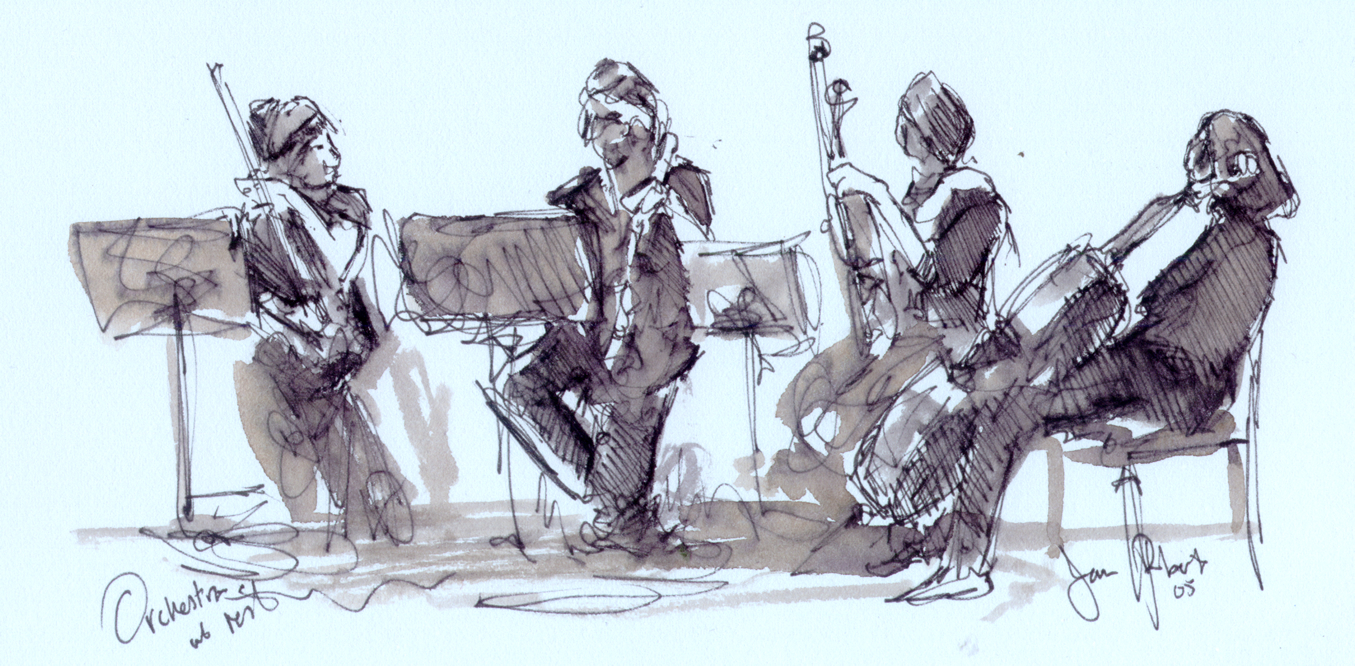 'Orchestra at Rest' by Jason Roberts..