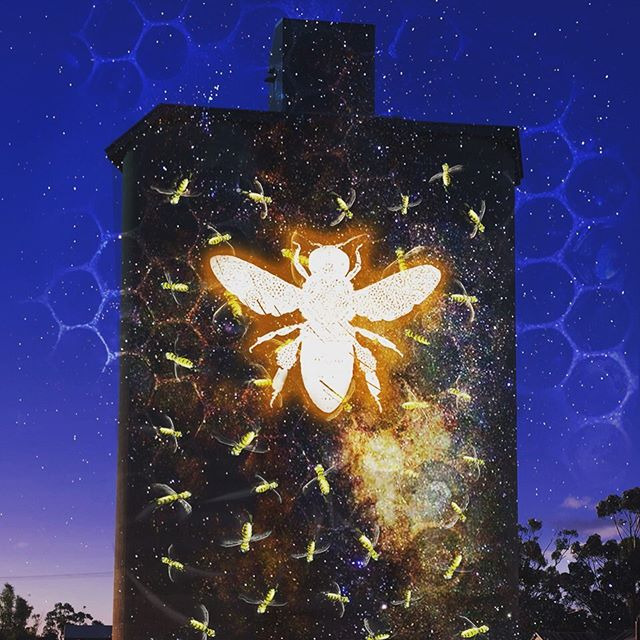 Pleased to announce the world premiere of Bee-Sharp Honeybee at the Natimuk Frinj Festival (Vic, AUS), Sat Nov 2nd.. 🐝🎶 Featuring a 12-piece string orchestra, music by @sunwrae with live projections by CJ (all the way from NYC), and 'Beetrice' the caravan of homegrown bees, live streamed onto the Nati wheat silos. Honey tastings by local Wimmera #beekeepers with artwork by @mel.obst_art huge thanks to @creative_vic @apraamcos @thepollinationproject @jackywintergardens @millaycolony @khncenter #ericstokestrust #finzitrust Mark & Elaine Uebergang, Rudy Panozzo, Mary French, Seeding Victoria and @natifrinj for helping this come to fruition.  Bee- Sharp Honeybee magnifies the subtle intricacies of the beehive. Developed from extensive research of rhythm, pitch and wiggle dance patterns, the familiar surrounds of the Natimuk Silos will come to life. Well I'll Bee!  @beesharphoneybee @umnbeelab @backyardbeekeepingballarat @cariveaulab @jennyforsterwarner @dwarner56 🐝🎶🐝🎶🐝🎶