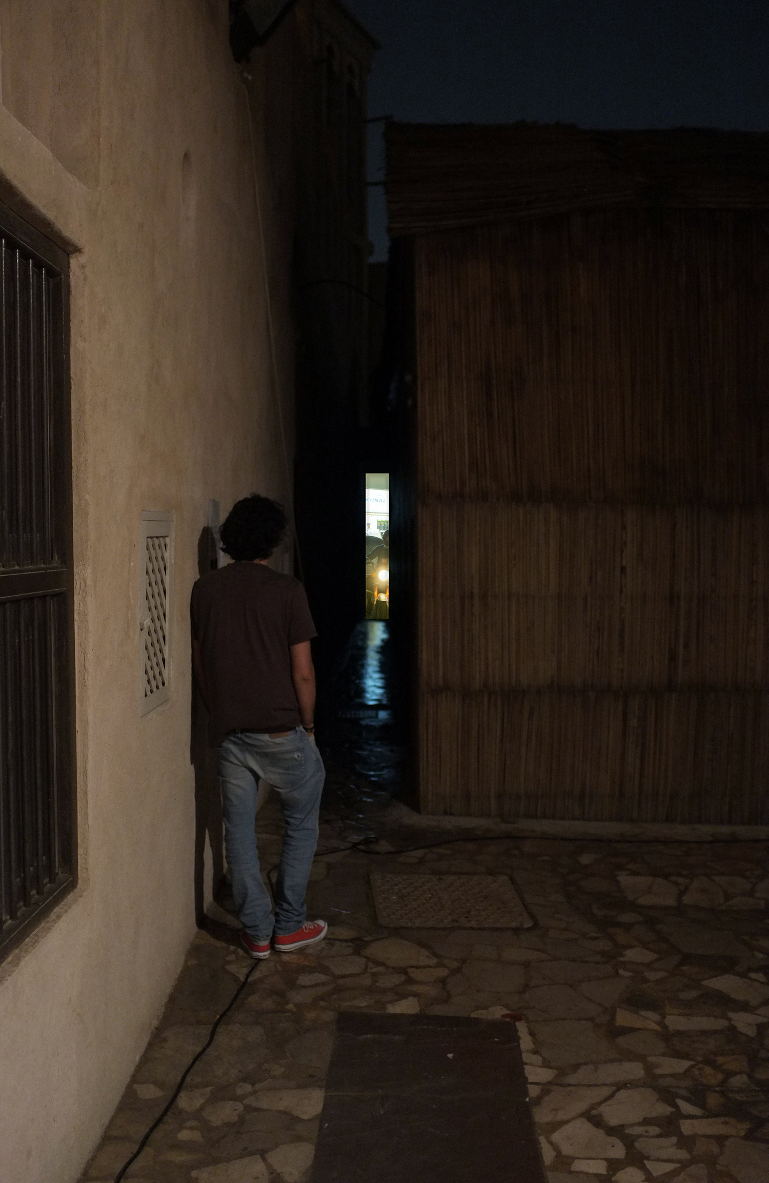Installation view  Alley between House 11 and House 16, Al Fahidi Historical Neighbourhood