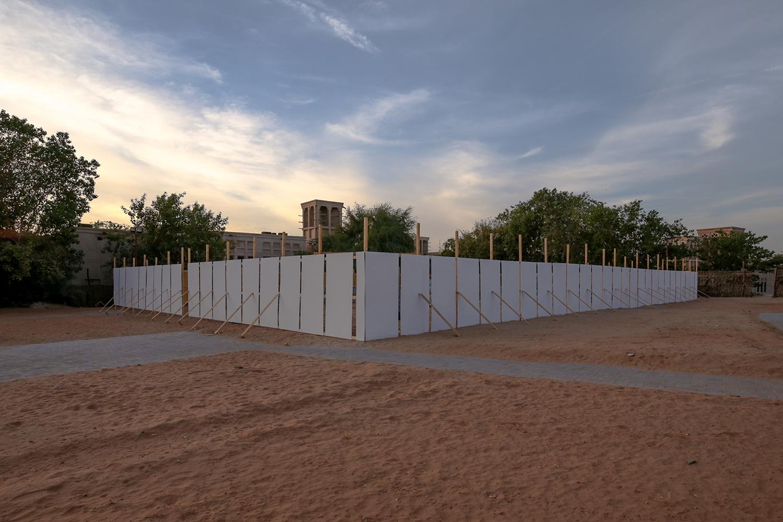 Installation view (exterior)  Shindaga Heritage Village, Dubai