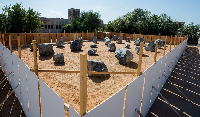 Installation view  Shindaga Heritage Village, Dubai