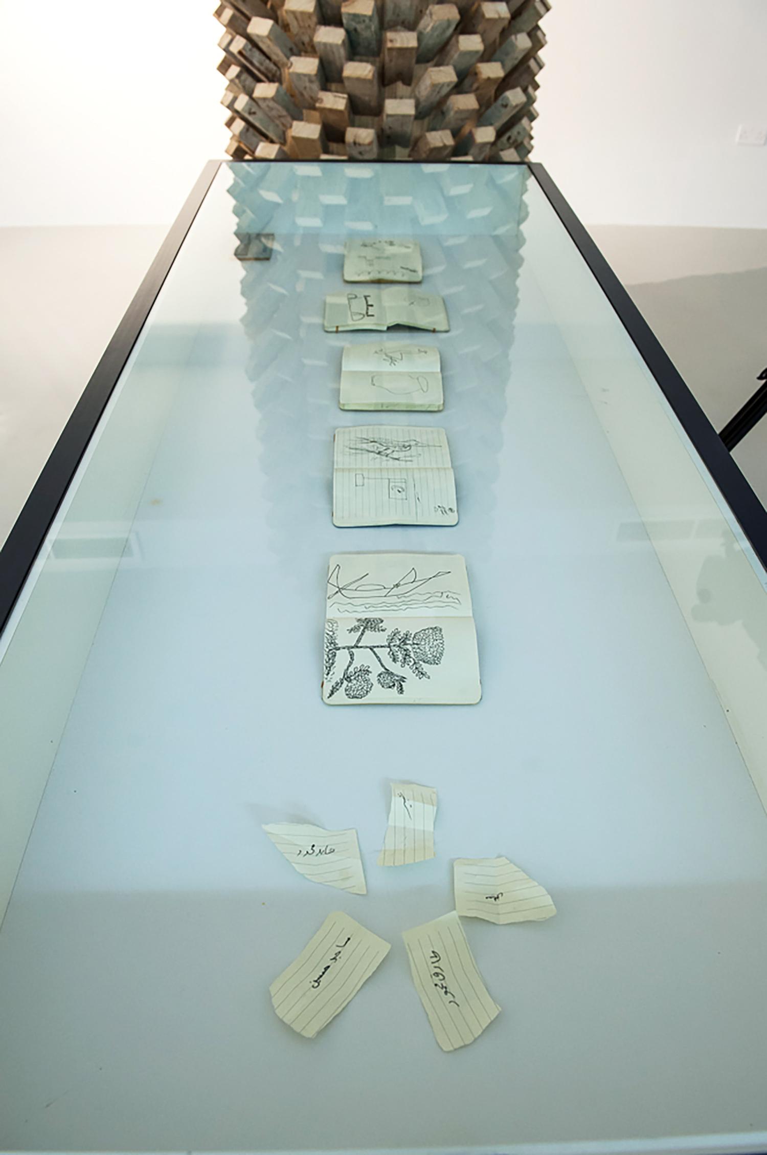 Gardeners' sketchbooks  Installation view, Maraya Art centre, Sharjah