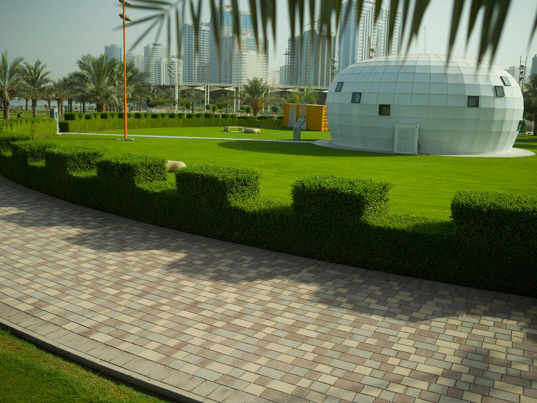 Hedge design by Muhammad Shabbir Ahmad Din  Al Majaz Park, Sharjah