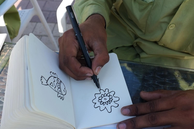 Drawing workshop  Al Majaz Park, Sharjah