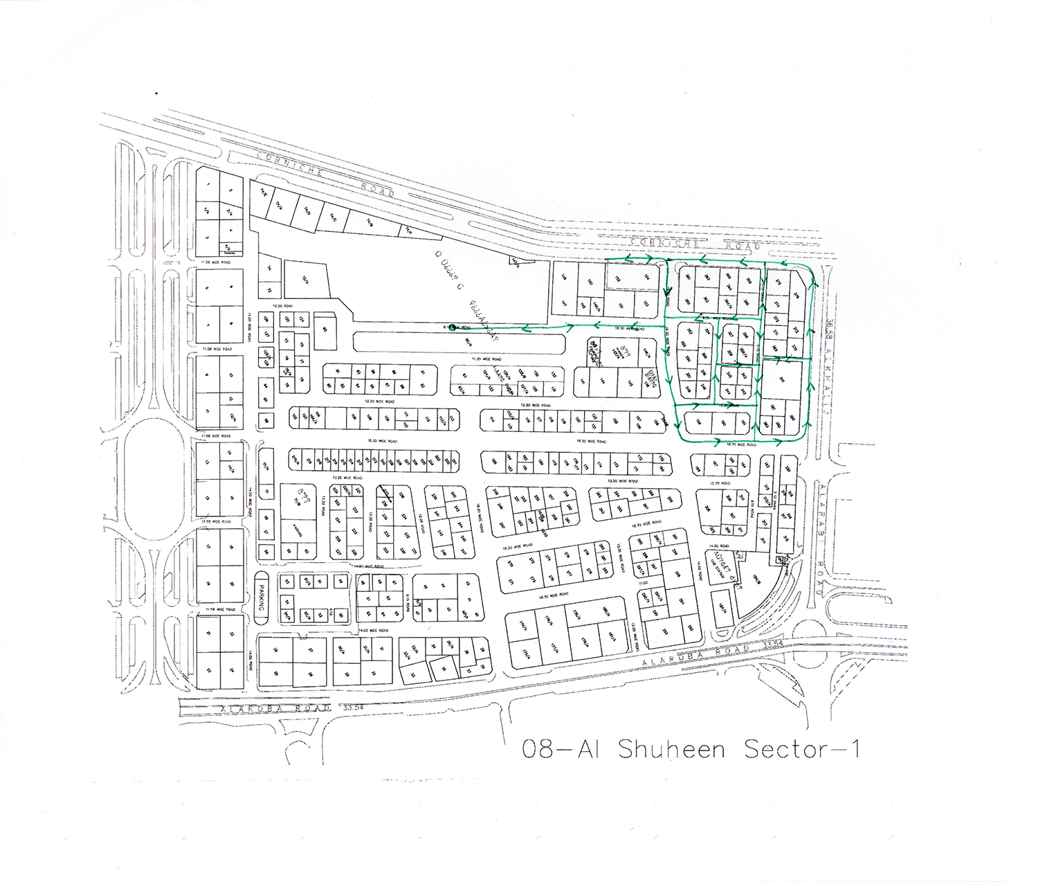 Remapped Sweeper Route - ID 1662 , 2016 Ballpoint ink on copy paper 29.7 x 35 cm