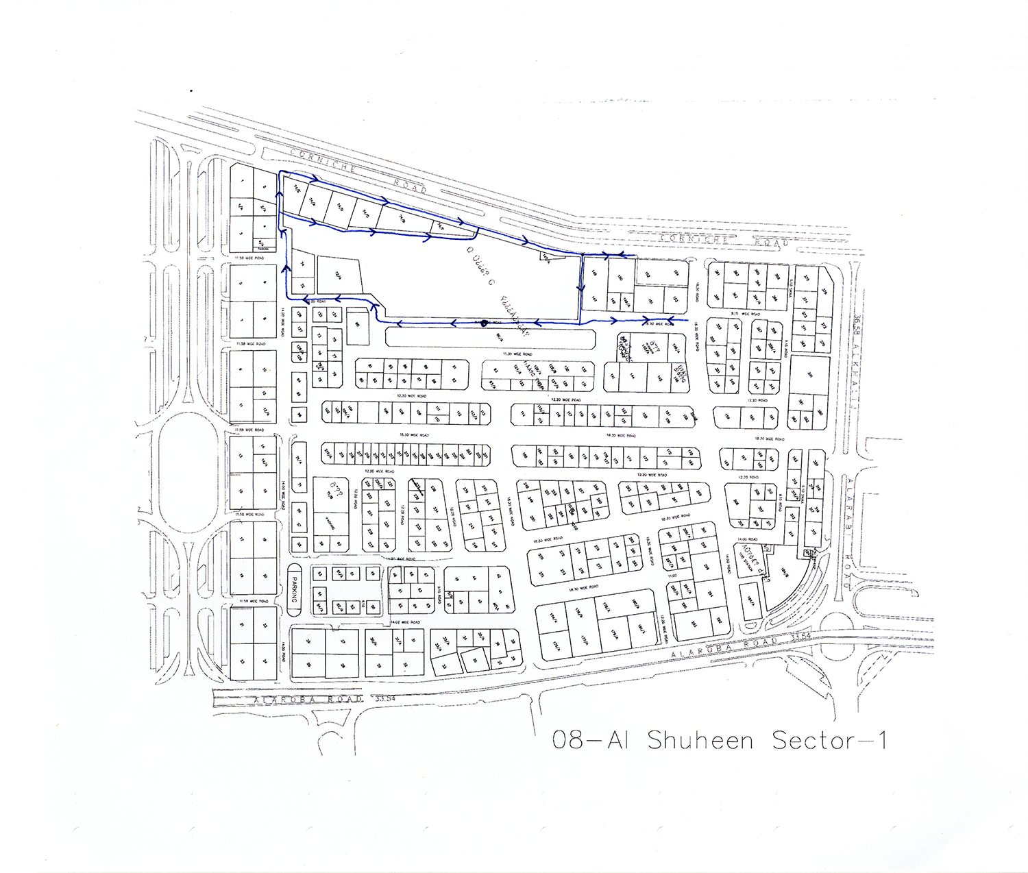 Remapped Sweeper Route - ID 1669 , 2016 Ballpoint ink on copy paper 29.7 x 35 cm
