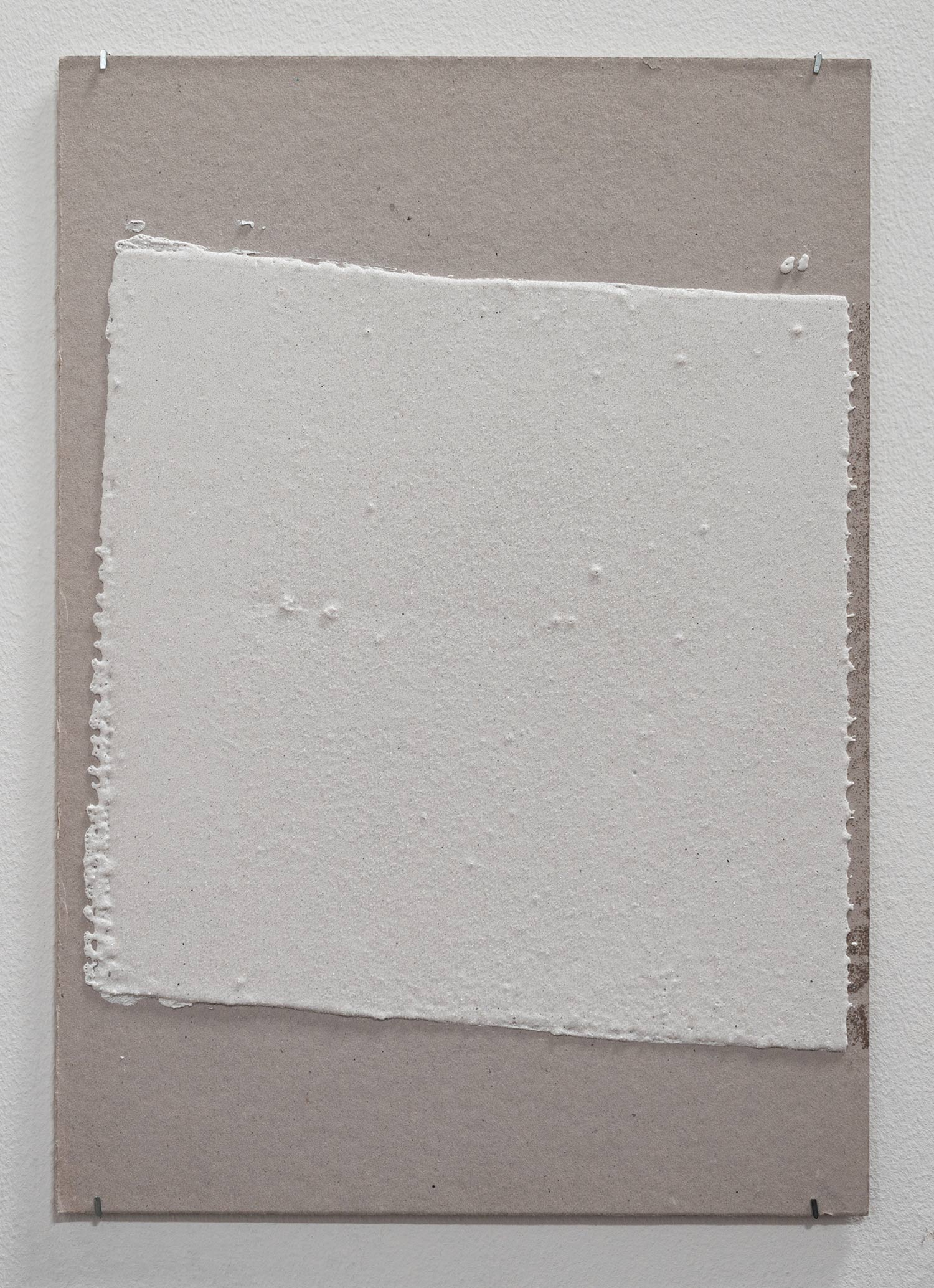 300mm (W), 1.5mm (T), white, Random mark, hand marking, Al Barsha 1, St 11,  2016  Thermoplastic paint and reflective glass particles on grey board  35 x 50 cm