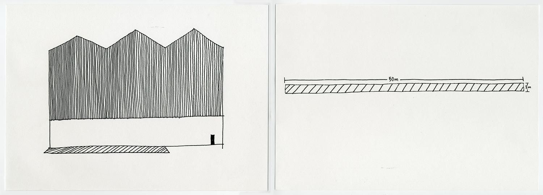 Default Residency , 2017 Ink on acid free fine grain paper Diptych: 21 x 29.7 cm each