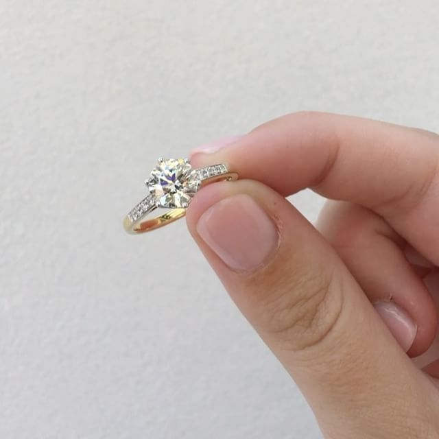 A beautiful sollitaire ring like this must be reguarly checked to ensure its claws and rhodium plating do not wear down.