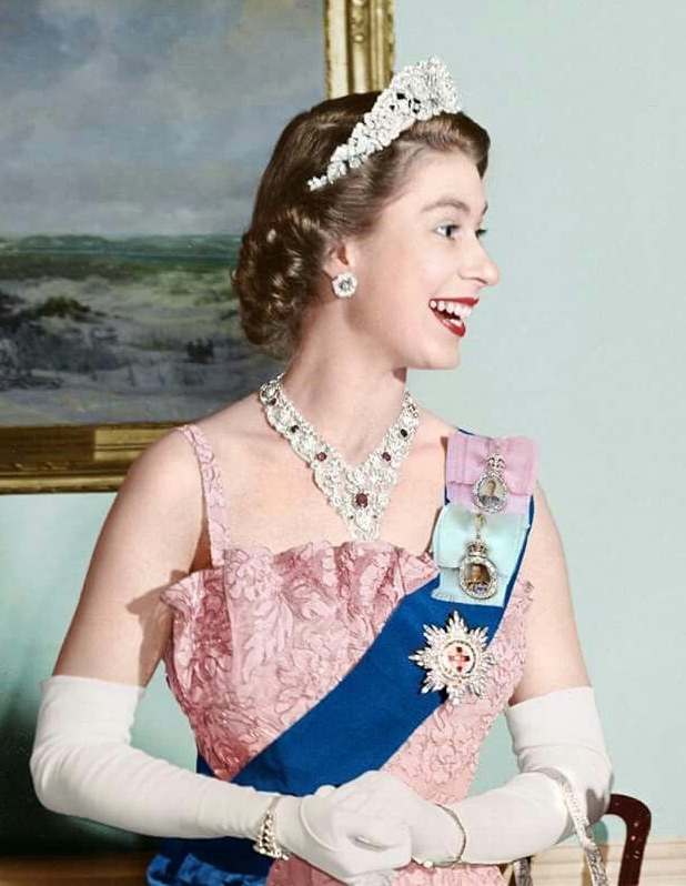 The Nizam Hyderabad Rose Tiara was hand picked by the Queen on her wedding day.
