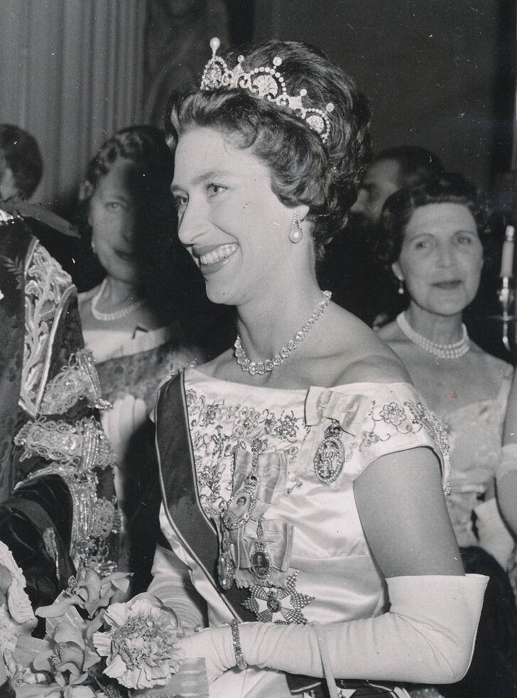 Princess Margaret in the Lotus Flower Tiara.