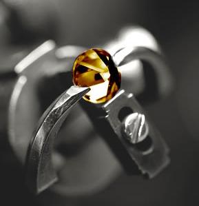 Choc diamond being cut.jpg