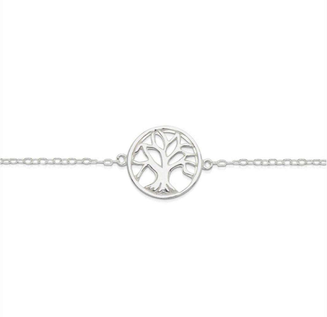 Silver Tree Of Life Bracelet - $39.95