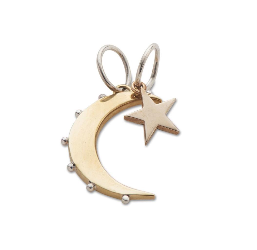 Palas Moon And Star Charms - $36