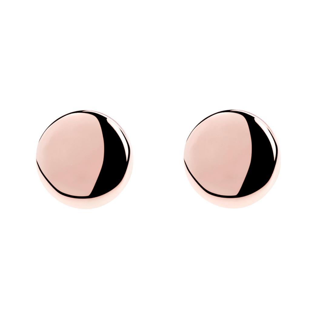 Najo Rose Circle Stud Earrings - $49